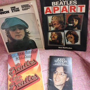 Lot of 4 Vintage The Beatles Books Paperback